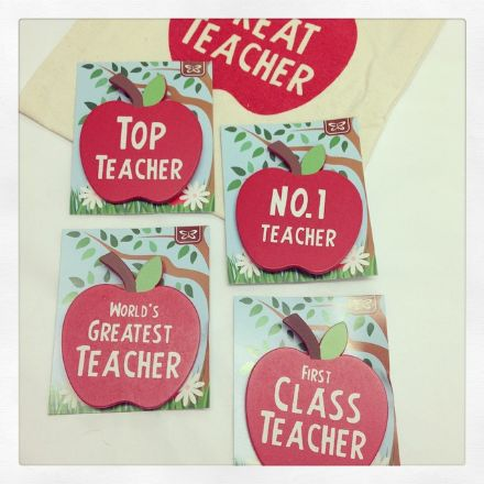Apple Teacher Badges Brooch